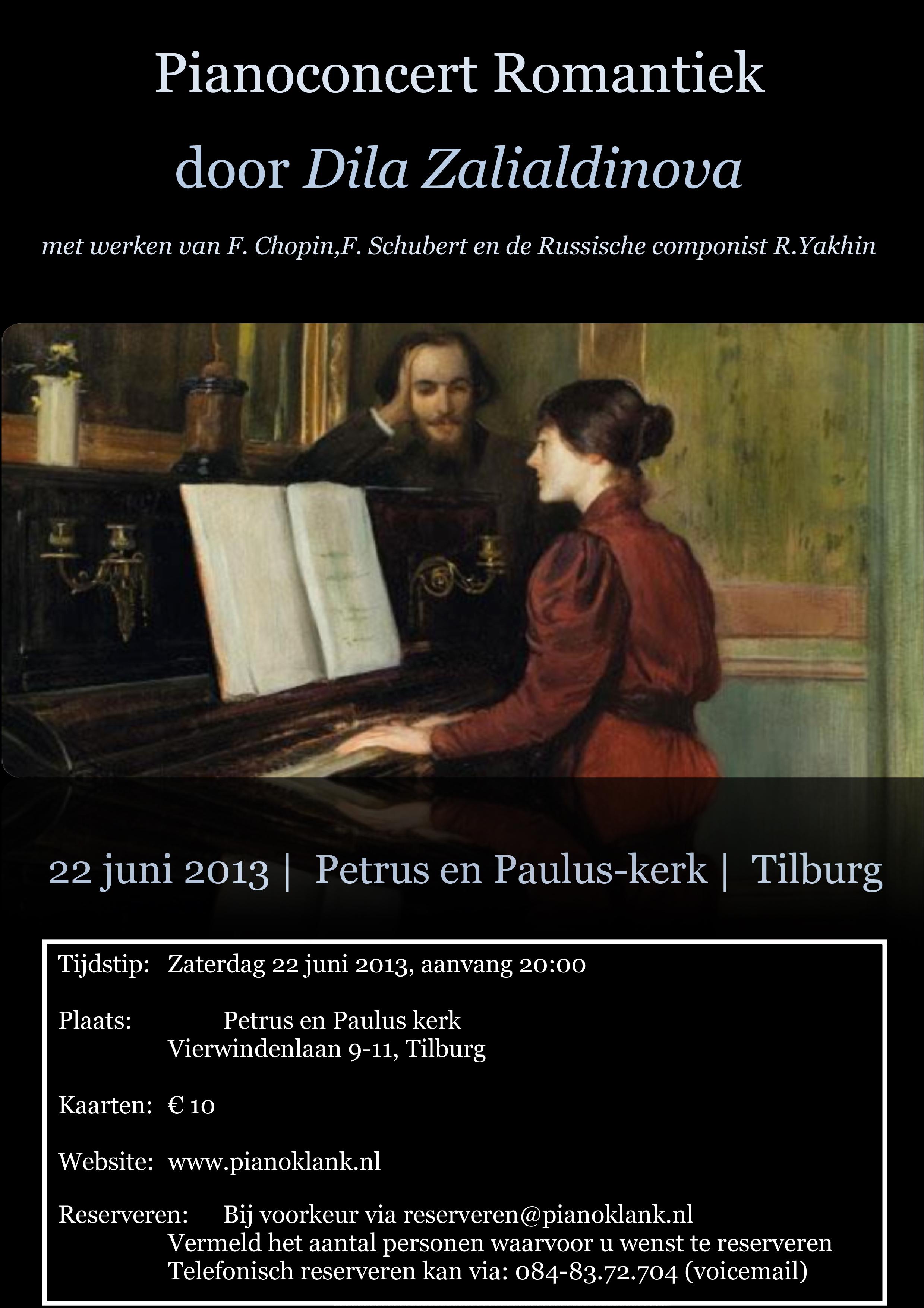 Affiche Pianoconcert Romantiek 3_Dila Zalialdinova